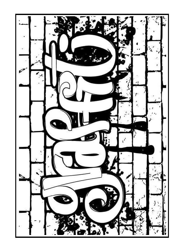 coli de colorat graffiti  plansededesenatro